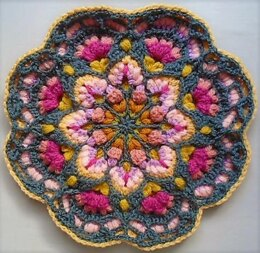 Hibiscus Tea Floral Block