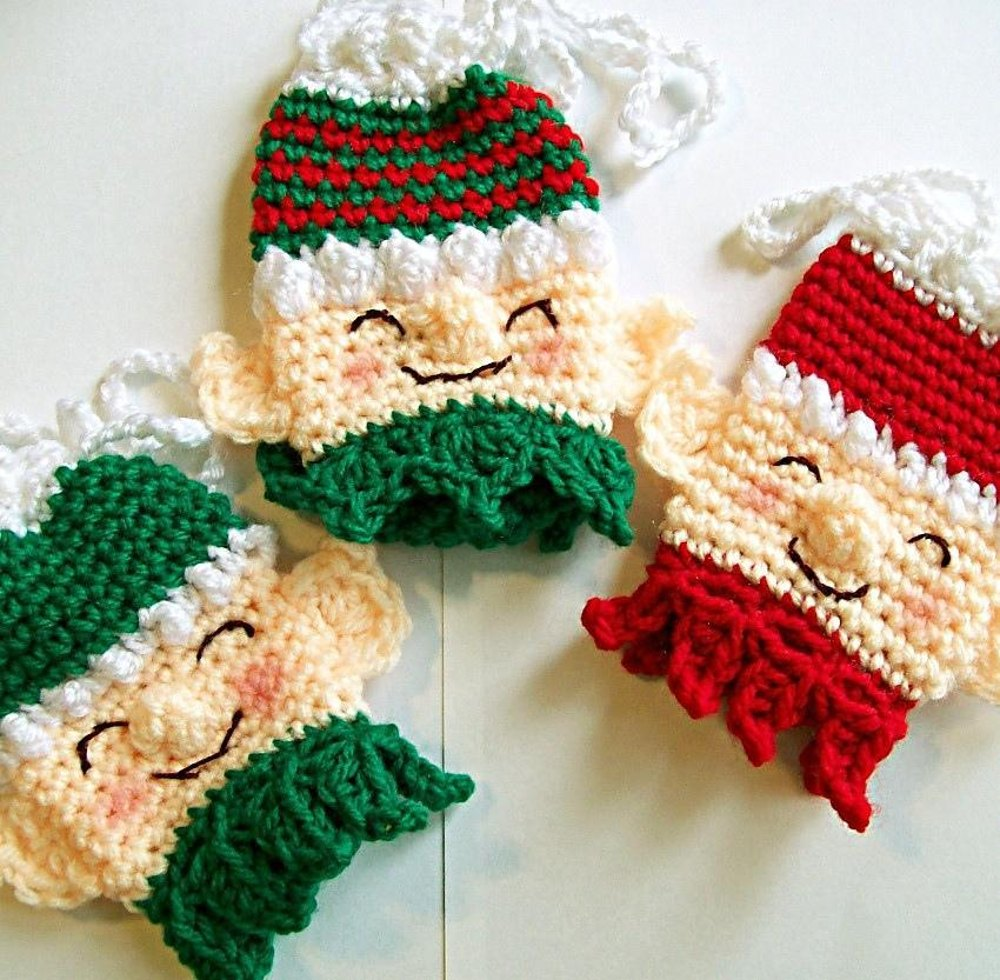 Santa S Helpers Gift Bags Crochet Pattern By Sally Ives