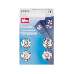 Prym Sew-On Snap Fasteners 17 mm Silver Colour