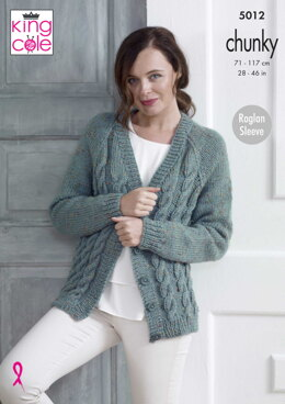 Cabled Cardigan & Sweater in King Cole - 5012 - Downloadable PDF