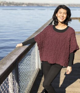 Dartmouth Poncho in Cascade Yarns 220 Superwash Merino - W744 - Downloadable PDF