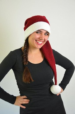 Long Christmas Hat Crochet Pattern