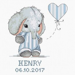 Luca-S Baby Boy Cross Stitch Kit - 14cm x 16.5cm