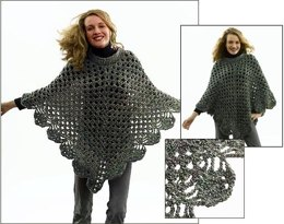 Martha Stewart 'Coming Home' Poncho: Plus Size in Lion Brand Homespun