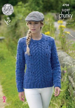 Cardigan & Sweater in King Cole Big Value Super Chunky - 4708 - Leaflet