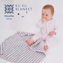 """Ku-Ku Blanket"" - Baby blanket Crochet Pattern For Babies in MillaMia Naturally Soft Merino by MillaMia"