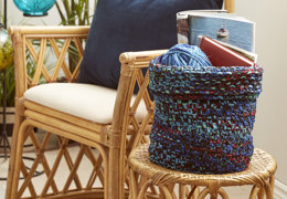 Boho Knit Basket in Bernat - Downloadable PDF