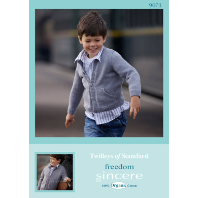 Knitted Child's Jacket in Twilleys Freedom Sincere DK - 9073