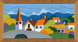Riolis Town in the Mountains Longstitch Kit