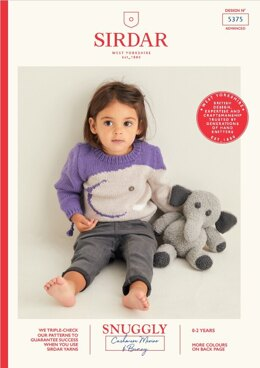 Baby's Sweater & Elephant Toy in Sirdar Snuggly Cashmere Merino & Snuggly Bunny - 5375 - Leaflet