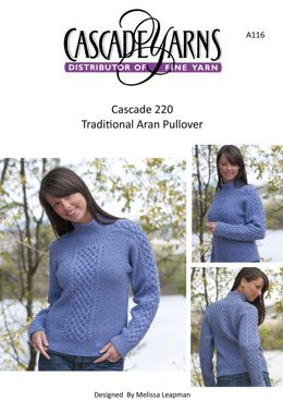 Traditional Aran Pullover in Cascade 220 - A116