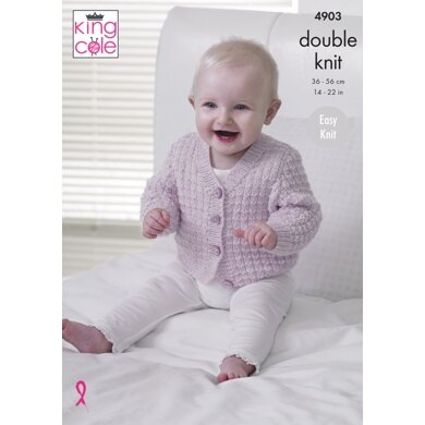 Waistcoat and Cardigans in King Cole Baby Pure DK - 4903 - Downloadable PDF