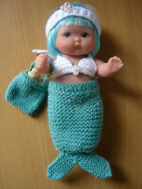 "5"" Berenguer Mermaid Outfit"