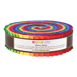 Robert Kaufman Kona Cotton Solids 1.5in Skinny Strips - SS-105-41