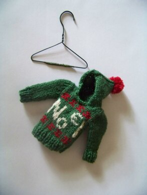 Christmas Tree Ornament Tiny Noel Hoodie