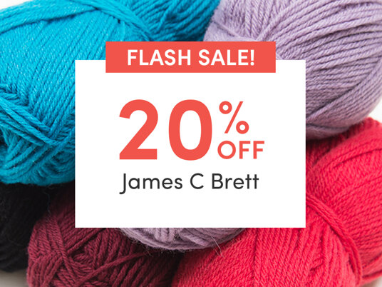 FLASH SALE! 20 percent off James C. Brett. Today only!