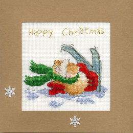 Bothy Threads Apres Ski Christmas Card Cross Stitch Kit - 10cm x 10cm