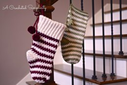 Jolly Textures Christmas Stockings