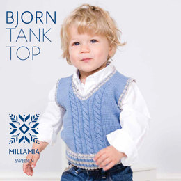 Bjorn Tank Top in MillaMia Naturally Soft Merino - Downloadable PDF