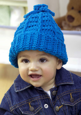 Baby to Kid Crochet Hat in Red Heart Designer Sport - WR1840 - Downloadable PDF