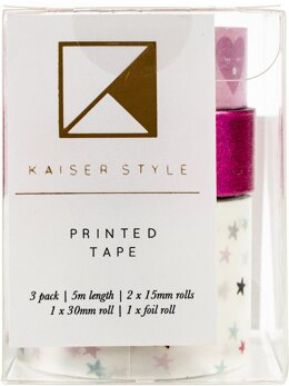 Kaisercraft Kaiser Style Printed Tape 3/Pkg - Glorious