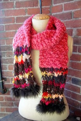 Feeling Groovy Scarf in Knit Collage Sister Yarn and Rolling Stone