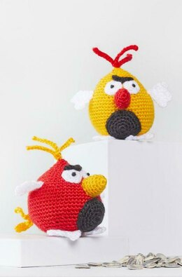 Benedict & Bertie Crochet Bird in Red Heart Amigurumi - LM6295 - Downloadable PDF