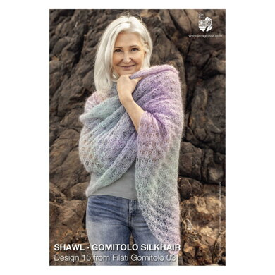 Shawl in Lana Grossa Gomitolo Silkhair - 15 - Downloadable PDF