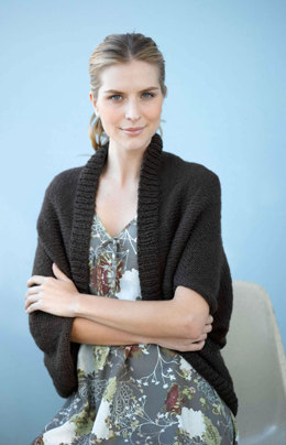Stockinette Stitch Shrug in Lion Brand Nature's Choice Organic Cotton- 90687AD