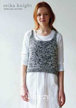 Breezy Vest Top in Erika Knight Gossypium Cotton
