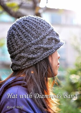 Hat with Diamonds Band