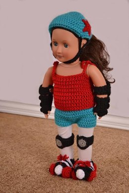 "Roller Derby Girl Outfit for 18 "" Doll"