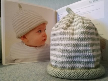 Debbie Bliss Striped hat for babies knitting project by Celia M ... ae85a9075db