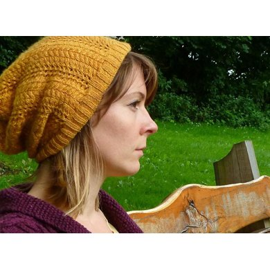 Autumn Gold Lace Beanie/Slouch Hat