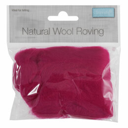 Trimits Natural Wool Roving 50g