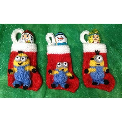 minion christmas stocking tree decorations - Minion Christmas Stocking
