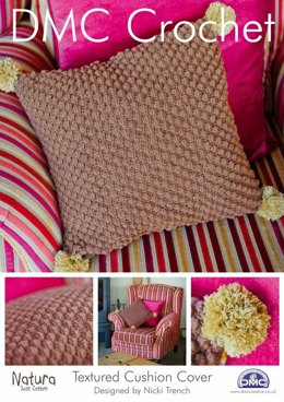 Textured Cushion Cover in DMC Natura Just Cotton - 14938L/2