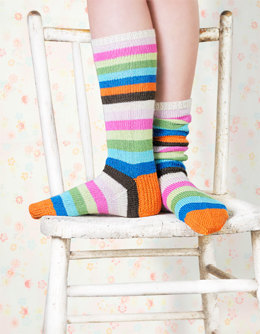 Popsicle Socks in Spud & Chloe Fine - 9808