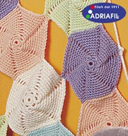 Blanket with Coloured Catherine Wheels in Adriafil Merino - Downloadable PDF