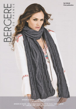 Scarf in Bergere de France Pur Nature - 33968