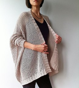 Angelina - easy trendy cardigan (knit)