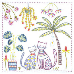 Un Chat Dans L'Aiguille Vacation In The Tropics Embroidery Kit