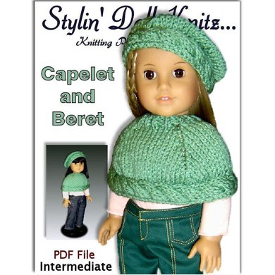 Capelet and Beret for American Girl and 18 inch dolls. 044