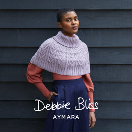 Jac - Shawl Knitting Pattern For Women in Debbie Bliss Aymara by Debbie Bliss