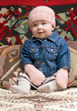 Baby Beanie & Mittens in Blue Sky Fibers Sport Weight and Melange
