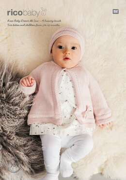 Cardigan and Hat in Rico Baby Dream DK - 787 - Downloadable PDF