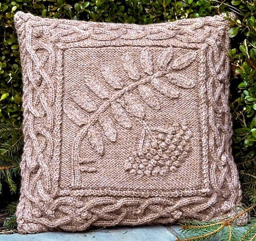 Celtic Rowan Pillow Knitting Pattern By Barbara Pott