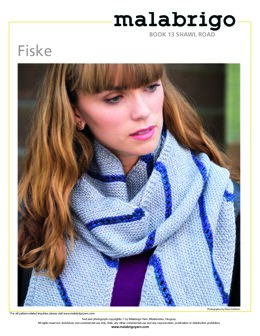 Fiske Shawl in Malabrigo Dos Tierras - Downloadable PDF