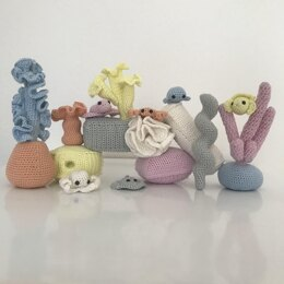 Coral with Fish Crochet Pattern