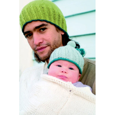 Mens and Baby Hat in Rooster Yarns Almerino DK Knitting ...